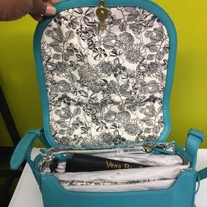 Vera Bradley Leather Carson Saddle Bag NWT